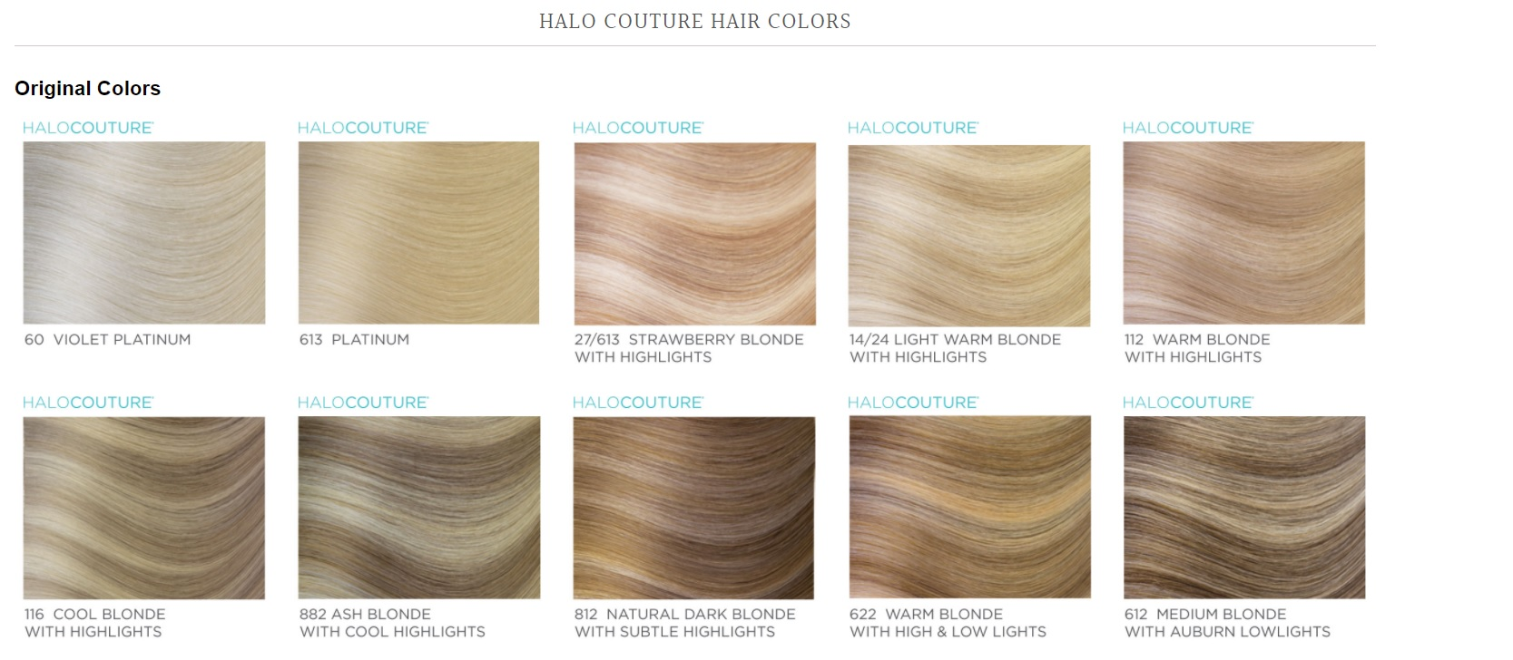 Halo Extension Colors Halo Couture Purchase Hair Extensions The